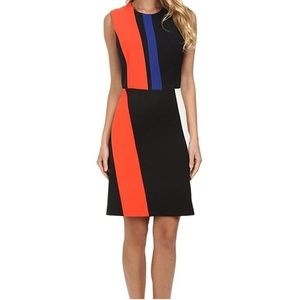 Vince Camuto Sleeveless Color Block Dress NWT